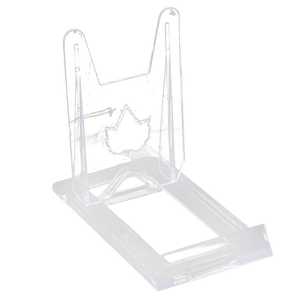 Baoblaze Acrylic Easel Display Stand Plate Picture Frame Stand Holder Clear Art Display Stand Table Top - Clear, S