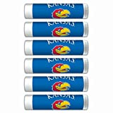 $2.00 OFF Kansas Jayhawks Smooth Mint Lip Balm 6-PACK with SPF 15, Beeswax, Coconut Oil, Aloe Vera. NCAA Gifts for Men and Women on Mother's Day, Father's Day, Stocking Stuffers.