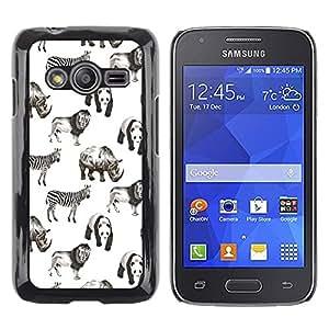 LECELL--Funda protectora / Cubierta / Piel For Samsung Galaxy Ace 4 G313 SM-G313F -- Animals Africa White Black Panda Lion --