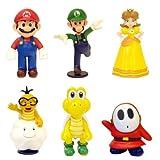 Nintendo Super Mario 2'' Mini Figure Collection (includes Mario, Luigi, Princess Daisy, Koopa Troopa, Shy Guy & Lakitu)