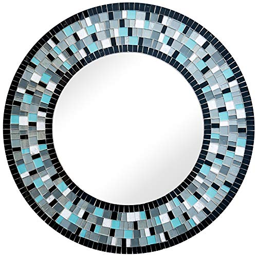 Zorigs Mirror Wall Art Décor - Handcrafted Decorative Wall Mirror, Blue Turquoise, -