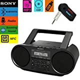 Sony Bluetooth Portable Cd Player Stereo Sound System Bundle/Digital Tuner AM/FM Radio Cd Player Mega Bass Reflex Stereo Sound System Included A NeeGo Wireless Bluetooth Receiver