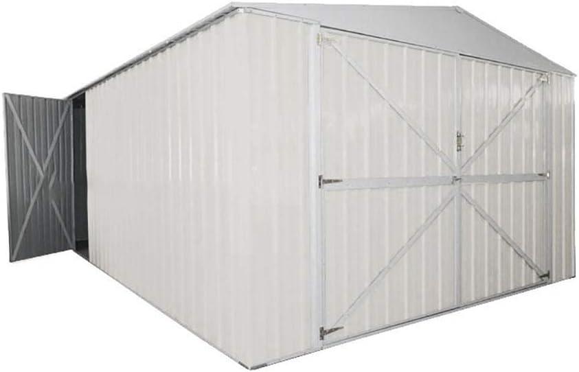 Casita Box de jardín de chapa blanca para deposito Herramientas 360 x 600 x 230 cm Enaudi: Amazon.es: Jardín