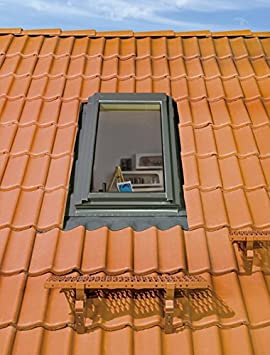 FAKRO Thermoisolations Ausstiegsfenster FWL FWL U3 /Öffnung Rechts 66x118 ED flach