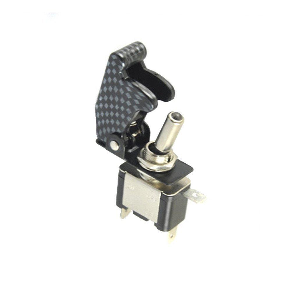 Qiorange 2x Auto12v KFZ Schalter SPST Wippschalter Ein//Ausschalter mit LED Anzeige Wechsel Switch Kippenschalter Violett