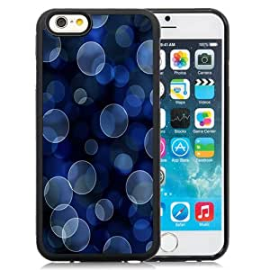 New Fashion Custom Designed Skin Case For iPhone 6 4.7 Inch TPU Phone Case With Light Blue Bubbles Bokeh Phone Case Cover