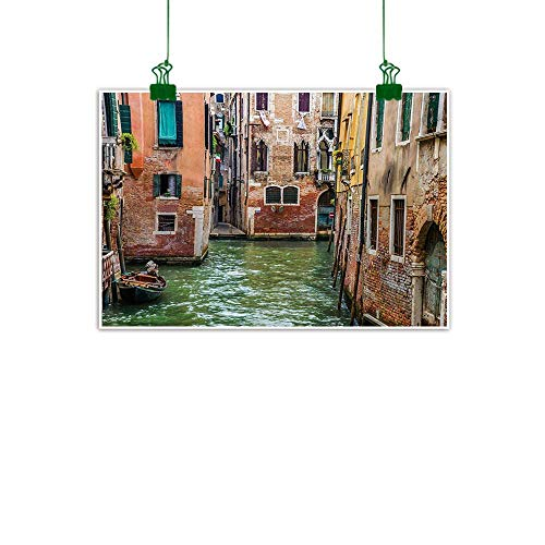 - Venice,Wall Decoration Italian City on Water Historical Landmark Famous Streets Houses Gondolas Europe Wall Hanging Decoration Multicolor W 32