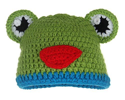 Iris Frogs (La Vogue Baby Photography Prop Frog Prince Knitted Crochet Costume Hat Caps)