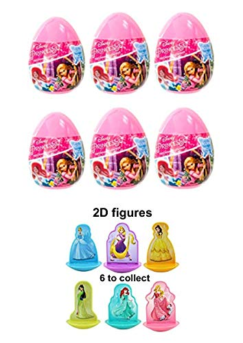 Posh p 6 New Disney Princess Plastic Surprise Eggs with 2D Figure