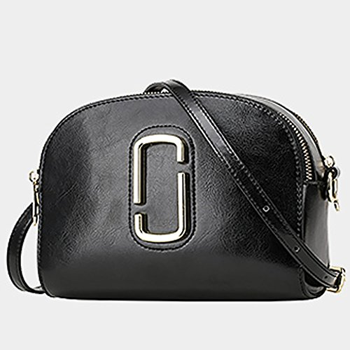 Pockets Shoulder Black Q0812 Leather Dissa Handbags Women Hard Bag Multiple Cn6YgqXw