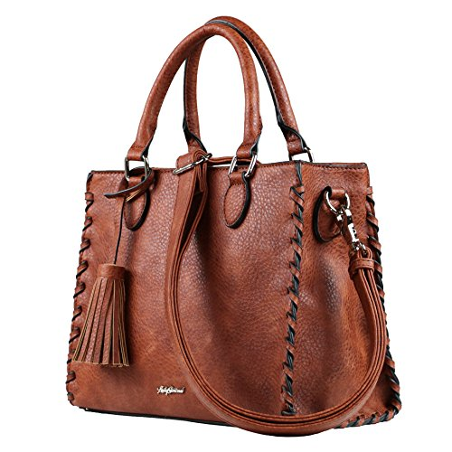 Carry Lady YKK Conceal Purse Satchel Concealed Mahogany Concealed Laced Weapon Ann Locking by Hqgqvd