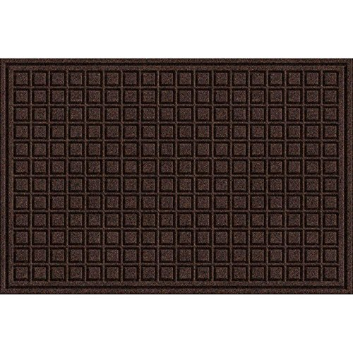 (Trafficmaster 24 in x 36 in Brown Synthetic Surface and Recycled Rubber Commercial Door Mat (Brown) (Brown))