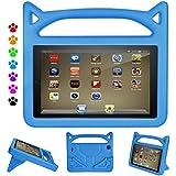 "F i r e H D 8 Kids Case, Roasan Super Protection Lightweight Handle Shockproof Screen Protector F i r e H D 8"" Tablet (7th 2017 Gen / 6th 2016 Gen, Blue)"