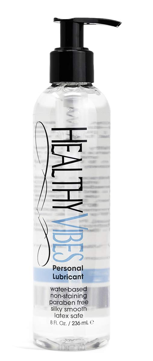 Water Based Sex Lube 8 oz by Healthy Vibes Intimate Personal Lubricant Stain Free & Condom Safe Adult lube for Men, Women, and Couples