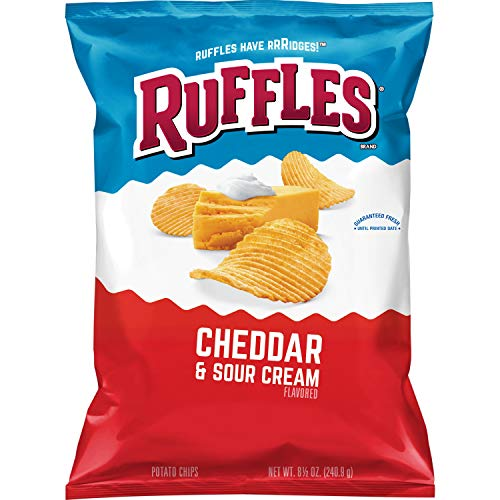 Image of Ruffles Cheddar & Sour Cream Flavored Potato Chips, 8.5 Ounce