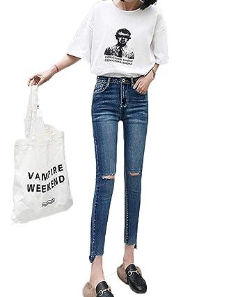 Pantalones Rallados Vaqueros Mujer Jeans Primavera Y Otoño ...