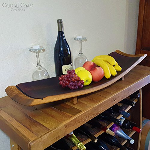 Stave Fruit Platter - Wine Barrel Handcrafted - Central Coast Creations - Wine Barrel Furniture (Barrel Stave Furniture)