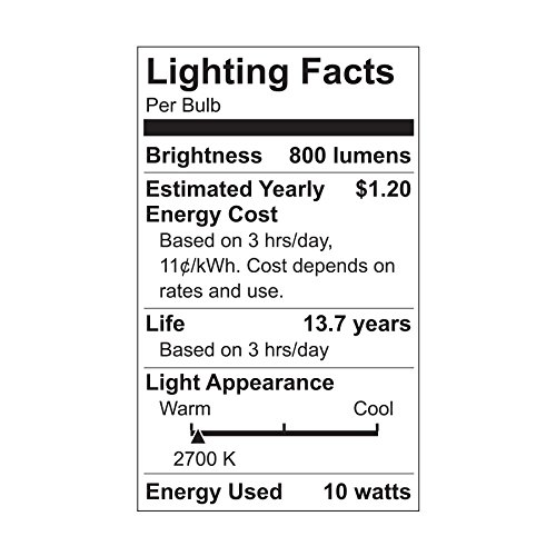 GE Lighting LED Light Bulb, A19, 60-Watt Replacement, Soft White, 4-Pack LED Light Bulbs, Medium Base, Dimmable