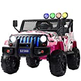 Uenjoy Kids Ride on Cars with Remote Control New Camouflage Color W/ Spring Suspension, Music& Story...