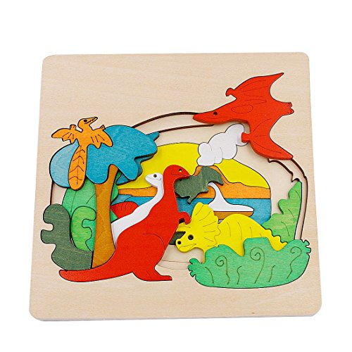 Little star Wooden Animal Puzzle Toy Baby Children Educational Wooden Toys