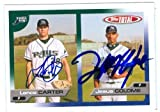 Lance Carter & Jesus Colome autographed Baseball Card (Tampa Bay Devil Rays) - Autographed Baseball Cards