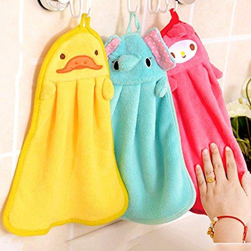 Money coming shop Children Nursery Hand Towel Cartoon Animal Kitchen Bath Hanging Wipe Towel (Cutthroat Island Costumes)