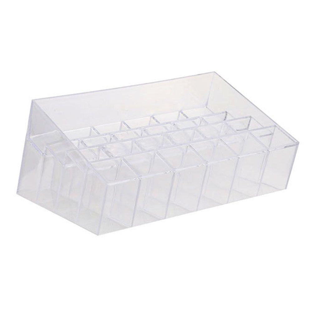 24 scomparti trasparente rossetto, trucco rossetto display stand Storage rack Holder organizer GeKLok