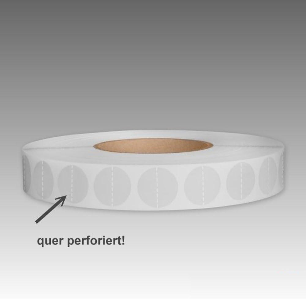 mashpaper Verschluss-Klebepunkte Verschlussetiketten Kleberonden transparent 20 mm rund abl/ösbar 451020