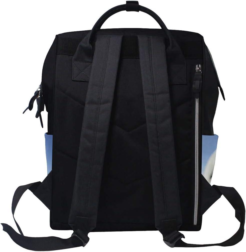 FANTAZIO Mummy Bag Backpack Funny Harp Seal School Bag