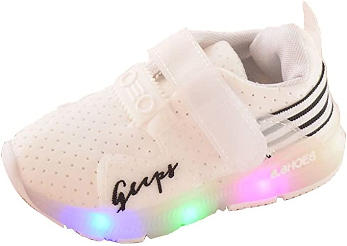 YanHoo Zapatos para niños Zapatos Deportivos de otoño Luces LED Zapatillas de Running Zapatillas niños ara niños pequeños Zapatillas de Deporte para niños Luminosas Zapatillas: Amazon.es: Ropa y accesorios
