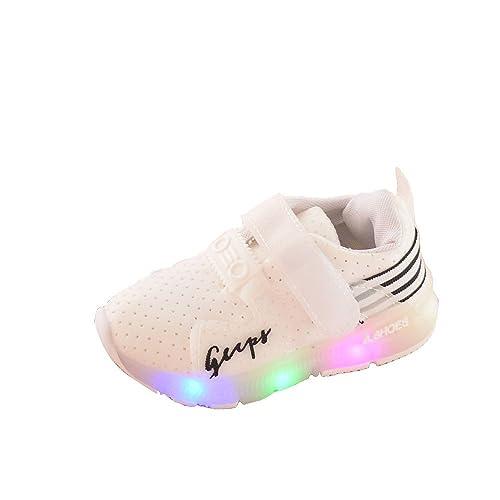 Zolimx LED Illuminare Scarpe Bambino Piccolo/Ragazzino Ragazze Lampeggia Sneakers (30, Rosa)