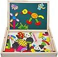 Magnetico Lavagna Puzzle di Legno Magnetica Lavagnetta Magnetica Puzzle Magnetici Giochi Creativi Costruzioni Gioco Per Bambini