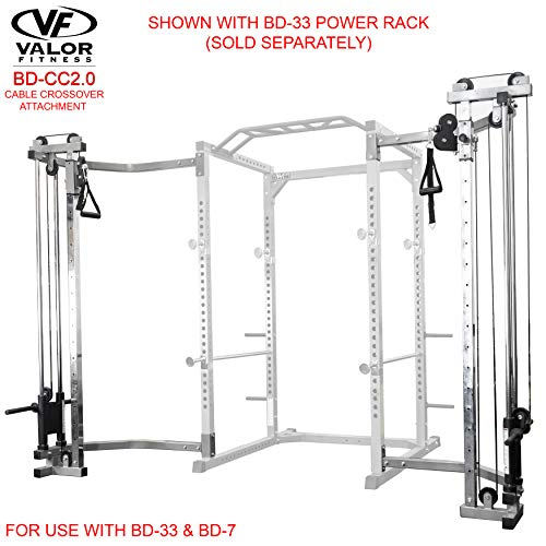 Valor Fitness BD-CC2.0 Cage Cable Crossover Attachment for BD-7 or BD-33