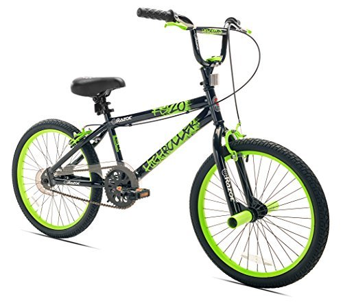 Razor High Roller BMX/Freestyle Bike, 20-Inch, Black/Green [並行輸入品] B01K1XZW44