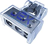 Jex Electronics Positive Battery Terminal Power Distribution Connector 2ga, 4ga & 2X 8ga output for Car/boat/RV