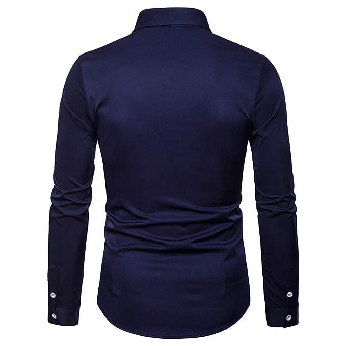 Blusa de Hombre, BaZhaHei, Camisetas de Manga Larga Bordada Estilo étnico Casual para Hombre Tops de Camisa de Manga Larga Bordada de otoño del Invierno ...