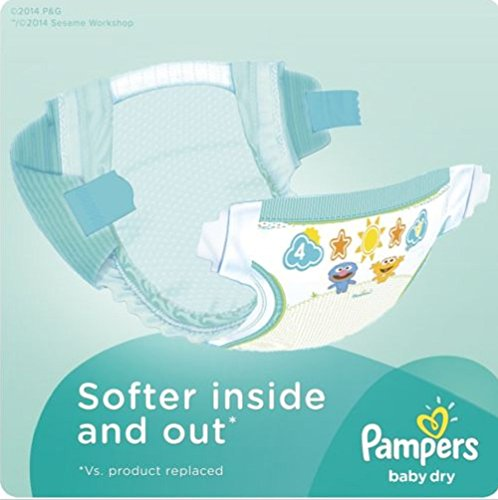 Pampers Flexes comfortable fitovernight protection Baby Dry Diapers, Size N, Super Pack, 104 Count