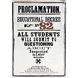Harry Potter Proclamation Educational Decree No 82 Mini Tin Sign 15 x 21cm