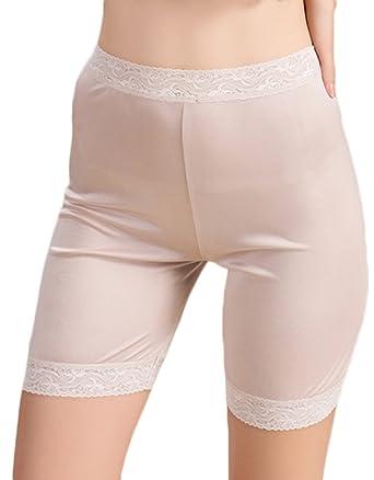 2357dc6bb CLC Women's Mulberry Silk Leggings Lace Anti-exposure Underwear at ...