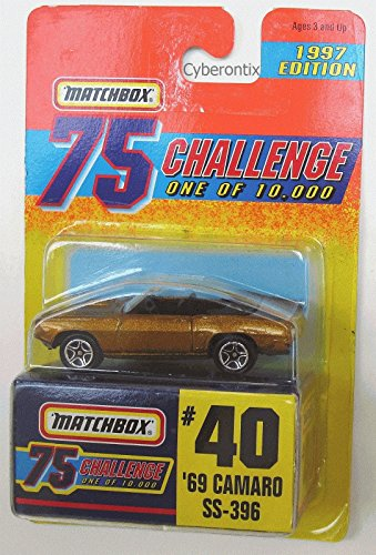 Qiyun Matchbox Gold 75 Challenge 69 Camaro SS 396 40 1997 Limited Edition MOSC