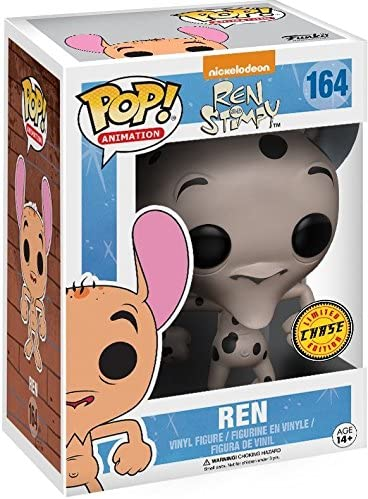 Funko Pop Ren Fire Dogs CHASE Limited Edition Vinyl Figure Nickelodeon: Ren /& Stimpy Bundled with Pop Box Protector Case