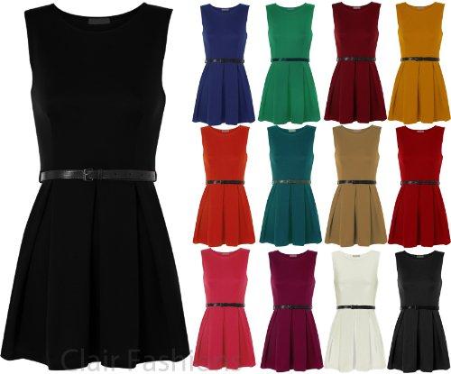 Caramelle Pieghe Pianura A Vino Ragazza Abbigliamento Vestito Sleevless Cintura Con OTxvAqOw