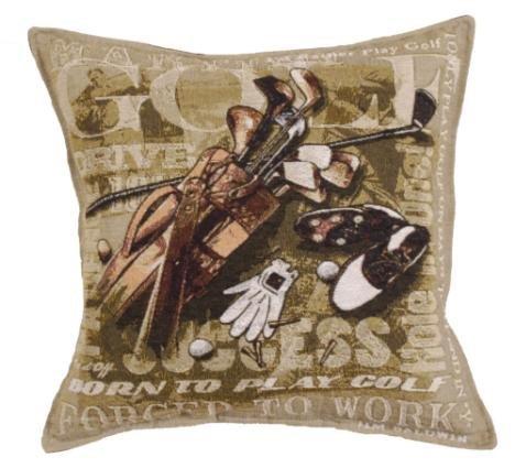 Born To Golf Tapestry Toss Pillow USA Made SKU: - Toss Pillow Decorative Tigers