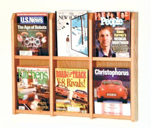 (Wooden Mallet Divulge 6 Magazine Wall Display Storage Rack Light Oak Electronics, Accessories, Computer)