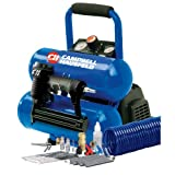 Campbell Hausfeld FP209599AV 2-Gallon Mini Twin-Stack Air Compressor with 1 1/4-Inch 2-in-1 Brad Nailer/Stapler Kit