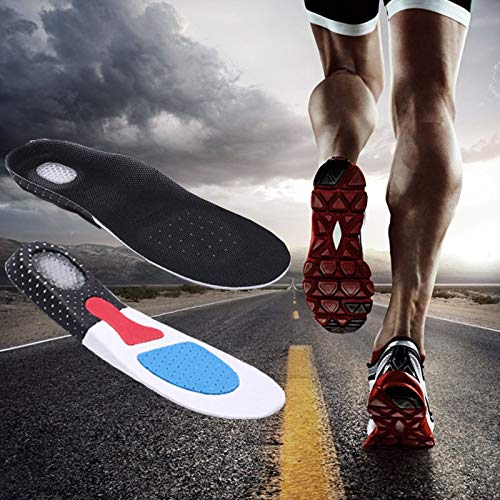 Men Support Cushion KY Gel Orthotic Sport Running Insoles Insert Shoe Pad Arch (41-45) by LYG (Image #7)