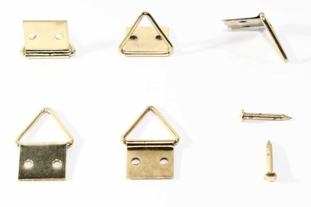 chiodi e ganci inclusi. 32 x 16 mm 50 pezzi Attaccaglie snodate per quadri dimensioni 4