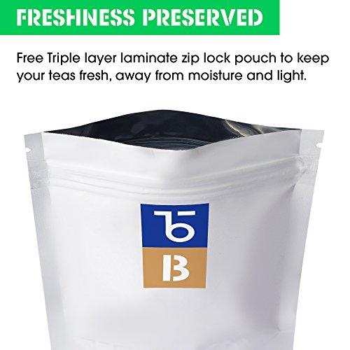 Teabox USDA Organic Himalayan Darjeeling Black Loose Leaf Tea 12 Oz. (170 Cups) | Fresh Whole Leaf Tea (2 Free Exotic Samples) |100% Natural Ingredients: Basil, Fennel, Orange | Sourced from India by Teabox (Image #2)