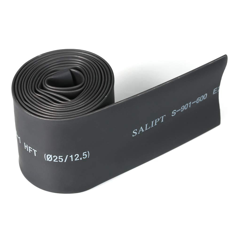 Leepesx Schrumpfschlauch-Verh/ältnis 2 1 Elektrischer Sleeving-Kabel Draht Schrumpfschlauch schwarz 2,5 mm Durchmesser /& 2 m L/änge