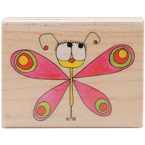 Penny Black 313209 Flutterfly Mounted Rubber Stamp, 2 by 2.5-Inch Flutterflies Wall